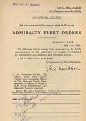 Admiralty Fleet Orders 1942 - 3335-3469