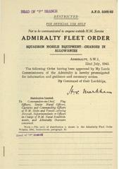 Admiralty Fleet Orders 1943 - 3368