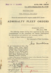 Admiralty Fleet Orders 1944 - 3368-3480
