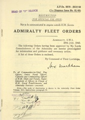 Admiralty Fleet Orders 1943 - 3370-3519