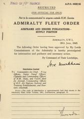 Admiralty Fleet Orders 1945 - 3439