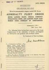 Admiralty Fleet Orders 1945 - 3440