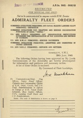 Admiralty Fleet Orders 1945 - 3441-3446