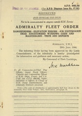 Admiralty Fleet Orders 1944 - 3481