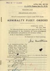 Admiralty Fleet Orders 1944 - 3482-3617