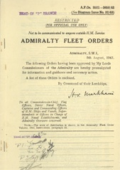 Admiralty Fleet Orders 1943 - 3521-3650