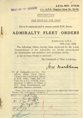Admiralty Fleet Orders 1944 - 3618-3778