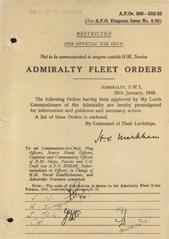 Admiralty Fleet Orders 1945 - 366-502