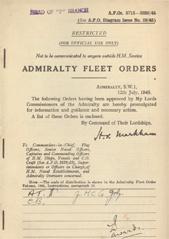 Admiralty Fleet Orders 1945 - 3715-3830