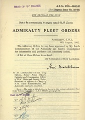 Admiralty Fleet Orders 1942 - 3725-3842