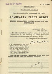 Admiralty Fleet Orders 1944 - 3779
