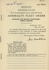 Admiralty Fleet Orders 1945 - 3831