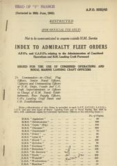 Admiralty Fleet Orders 1945 - 3832