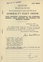 Admiralty Fleet Orders 1945 - 3834