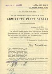 Admiralty Fleet Orders 1942 - 3844-3955