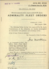 Admiralty Fleet Orders 1942 - 3856-4079