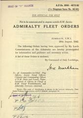 Admiralty Fleet Orders 1942 - 3856-4079