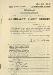 Admiralty Fleet Orders 1943 - 3889-4035