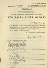 Admiralty Fleet Orders 1943 - 3889-4035