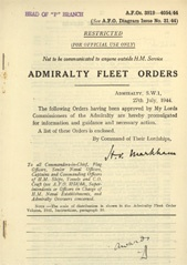 Admiralty Fleet Orders 1944 - 3919-4054
