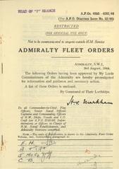 Admiralty Fleet Orders 1944 - 4055-4201