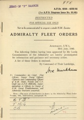 Admiralty Fleet Orders 1945 - 4058-4223