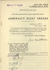 Admiralty Fleet Orders 1942 - 4080-4225