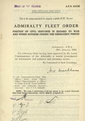 Admiralty Fleet Orders 1942 - 414