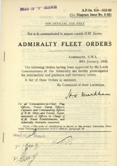 Admiralty Fleet Orders 1942 - 415-513