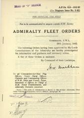 Admiralty Fleet Orders 1942 - 415-513