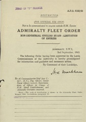 Admiralty Fleet Orders 1943 - 4152