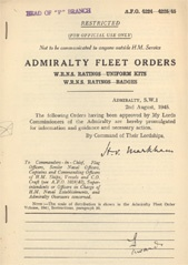 Admiralty Fleet Orders 1945 - 4224-4225