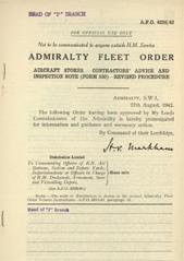 Admiralty Fleet Orders 1942 - 4226