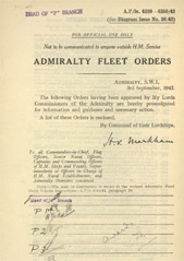 Admiralty Fleet Orders 1942 - 4229-4350