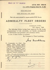 Admiralty Fleet Orders 1945 - 4238-4382