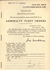 Admiralty Fleet Orders 1945 - 4238-4382