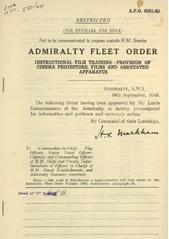 Admiralty Fleet Orders 1943 - 4251