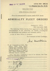 Admiralty Fleet Orders 1943 - 4252-4391