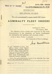 Admiralty Fleet Orders 1944 - 4339-4440