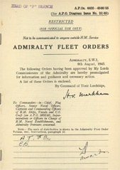 Admiralty Fleet Orders 1945 - 4402-4540