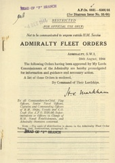 Admiralty Fleet Orders 1944 - 4441-4564