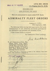 Admiralty Fleet Orders 1943 - 4524-4661