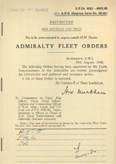 Admiralty Fleet Orders 1945 - 4551-4669