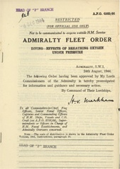 Admiralty Fleet Orders 1944 - 4565