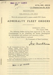 Admiralty Fleet Orders 1944 - 4566-4682