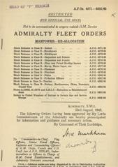 Admiralty Fleet Orders 1945 - 4671-4685