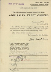 Admiralty Fleet Orders 1942 - 4697-4831