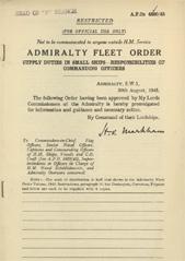 Admiralty Fleet Orders 1945 - 4800