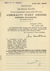Admiralty Fleet Orders 1945 - 4801-4830