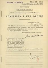 Admiralty Fleet Orders 1945 - 4831-4995